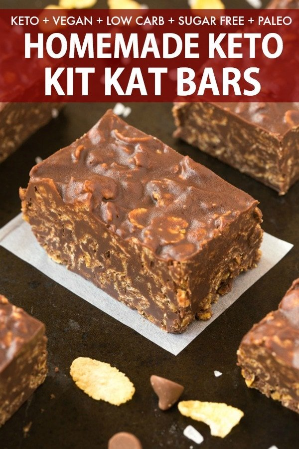 Homemade keto kit kat bars recipe.