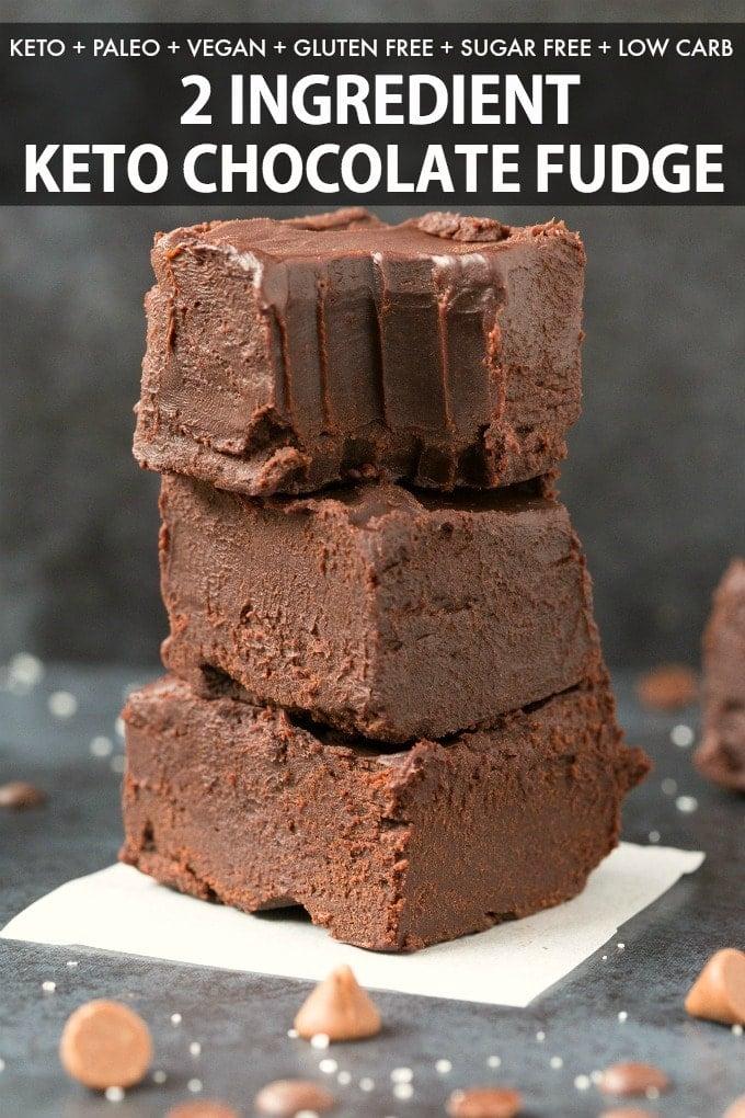 Easy keto chocolate fudge