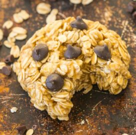 No Bake Oatmeal Cookies vegan with chocolate chips