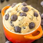 A bowlful of edible guilt-free cookie dough for one