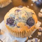 A keto and low carb blueberry muffin