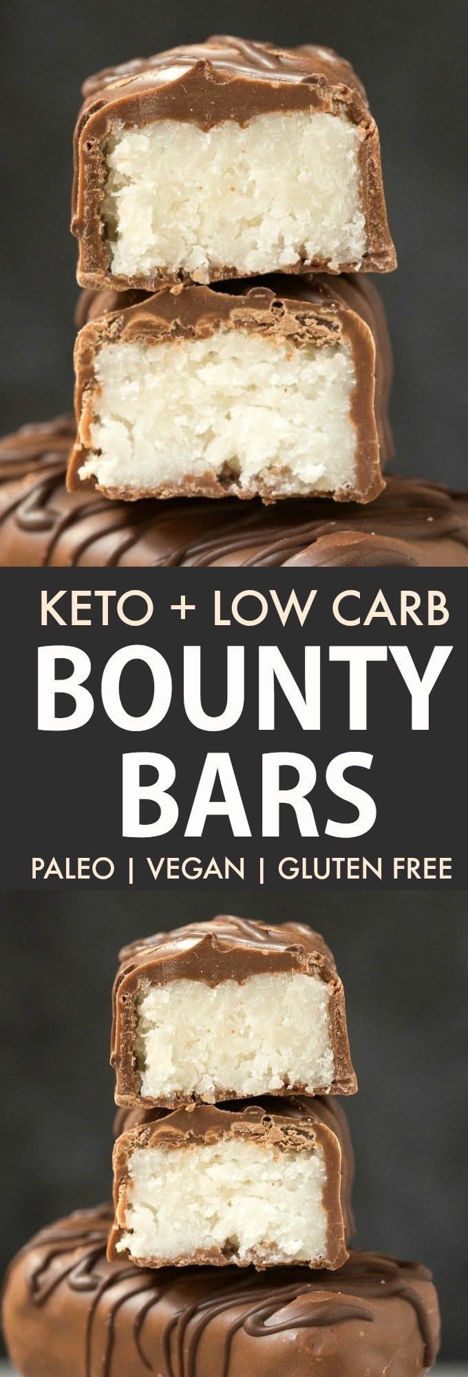 Keto homemade bounty bars