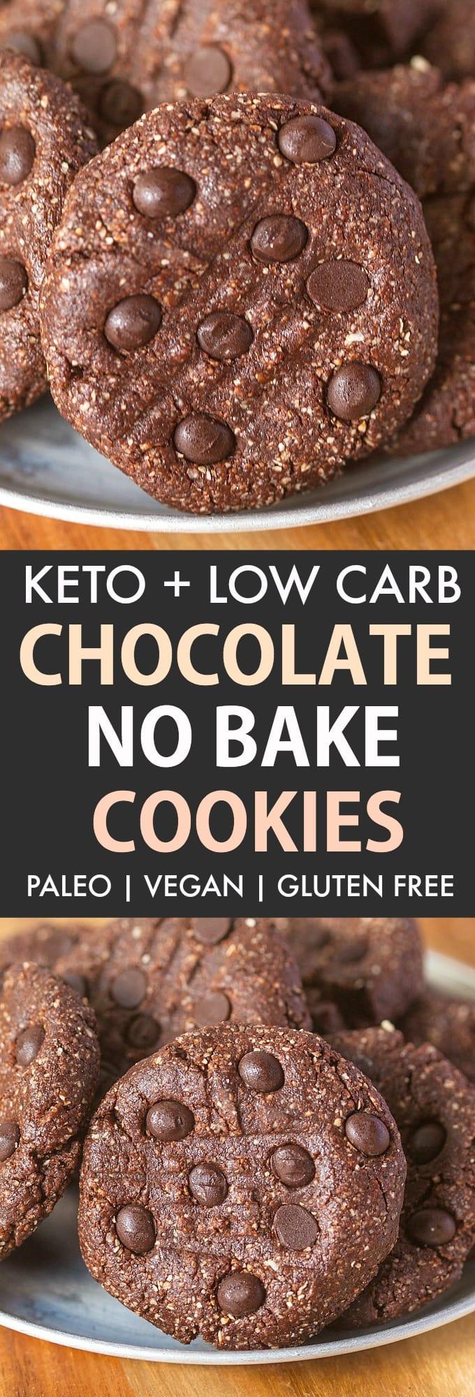 Keto chocolate no bake cookies