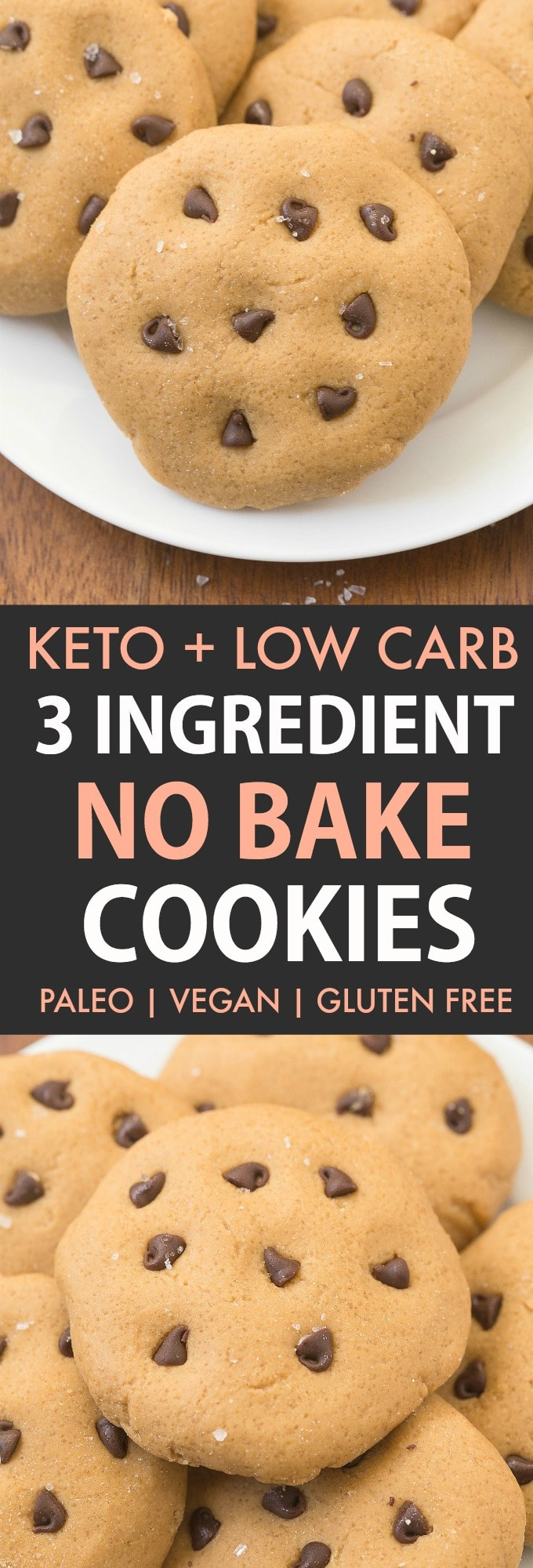 Keto No Bake Cookies with chocolate chips