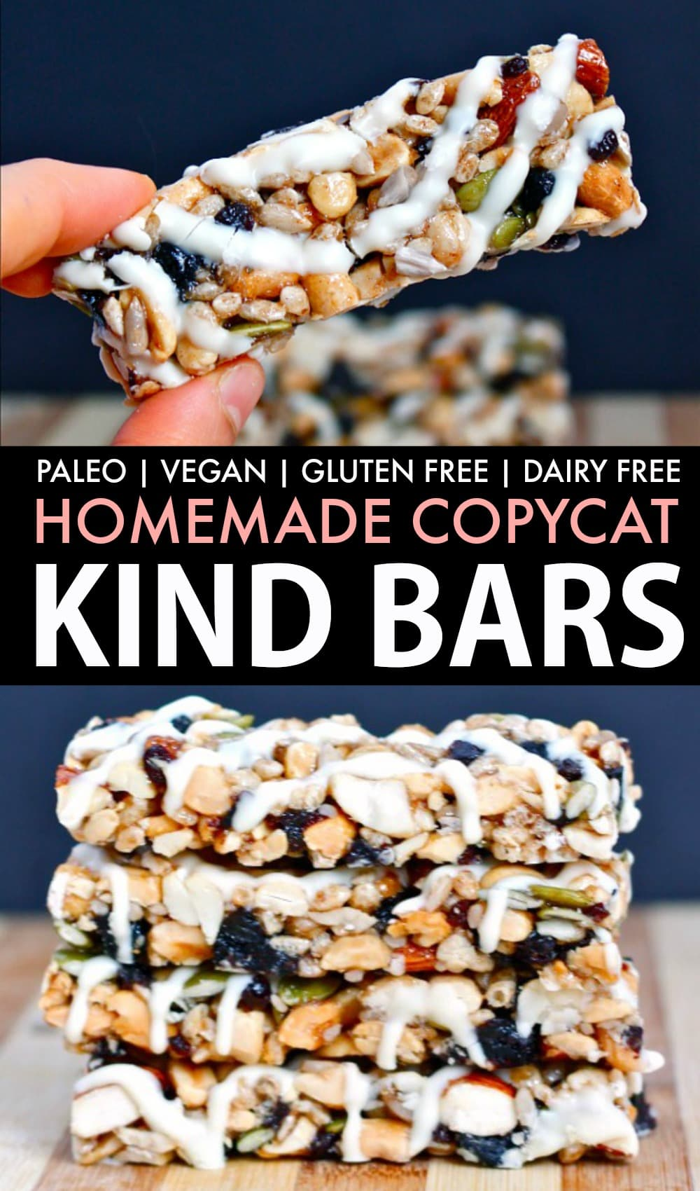 Homemade Fruit and Nut Bars Recipe which tastes like a KIND Bar