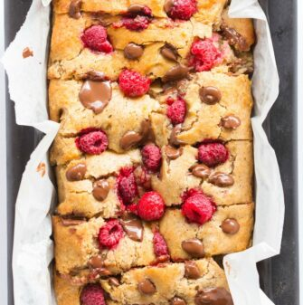 Healthy Banana Raspberry Bread