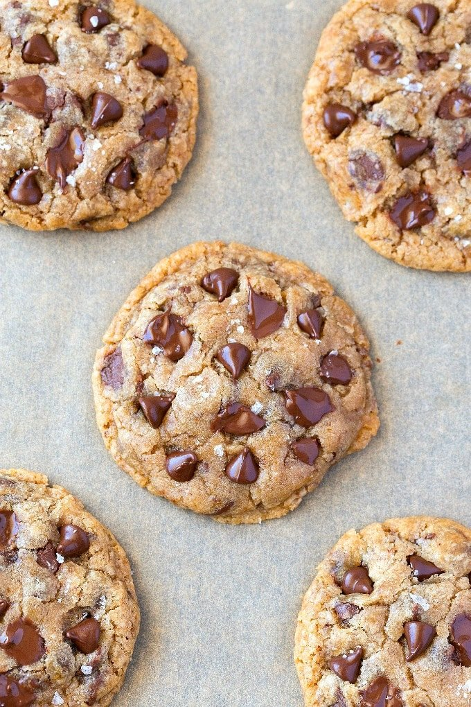 Best vegan chocolate chip cookies made sugar free and dairy free