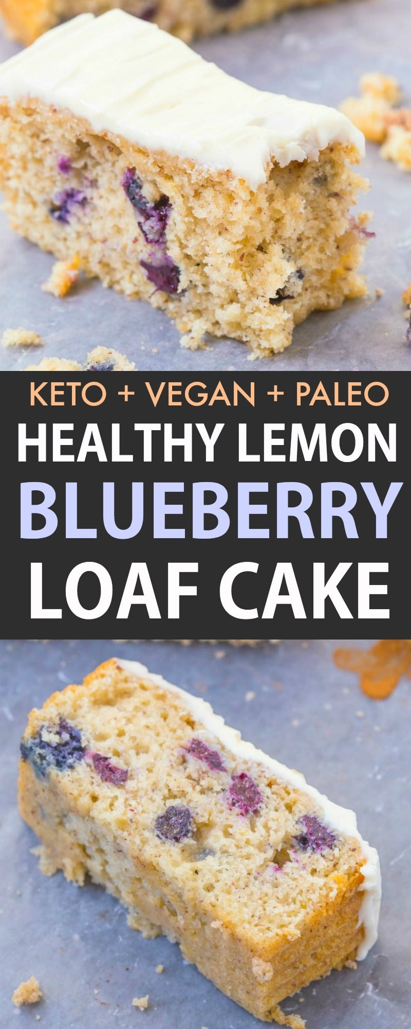 An easy recipe for a healthy lemon blueberry loaf cake that is like a pound cake!