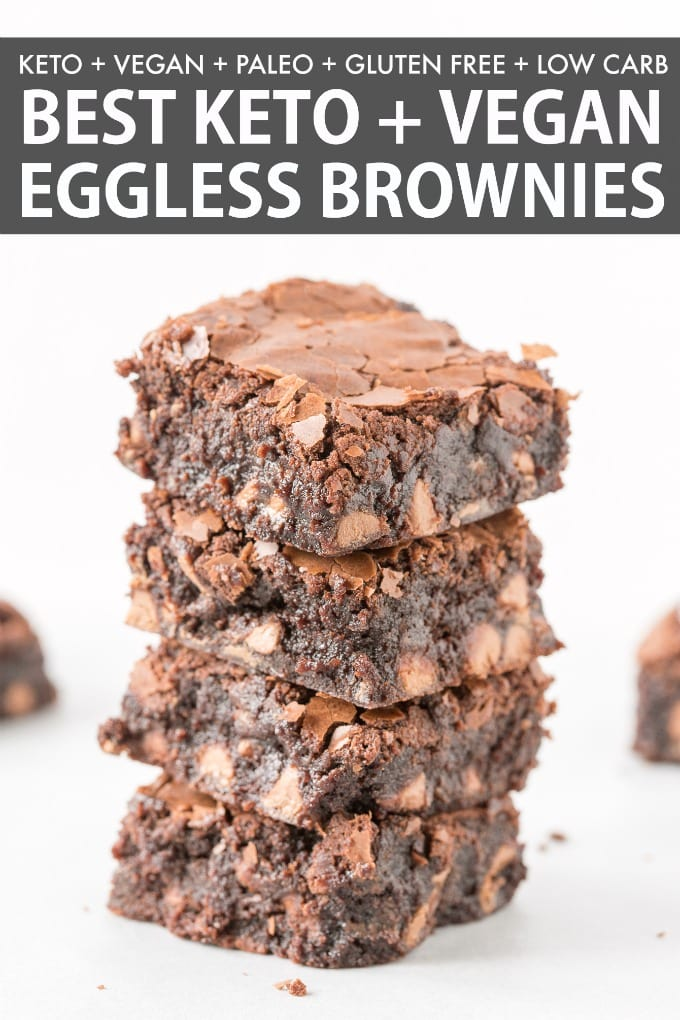 Paleo Vegan Almond Flour Brownies that are fudgy, gooey and ready in 40 minutes! The BEST keto low carb brownies ever!