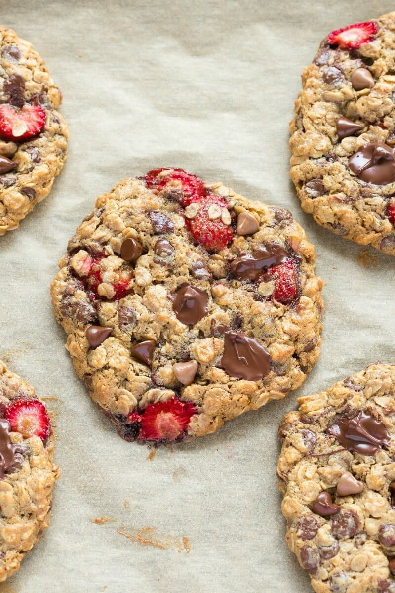 healthy strawberry cookies