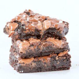 Easy homemade paleo vegan nutella brownies recipe