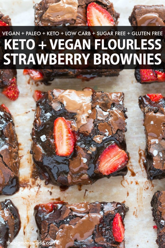 Healthy Chocolate Strawberry Brownies Keto Vegan The Big Man S World