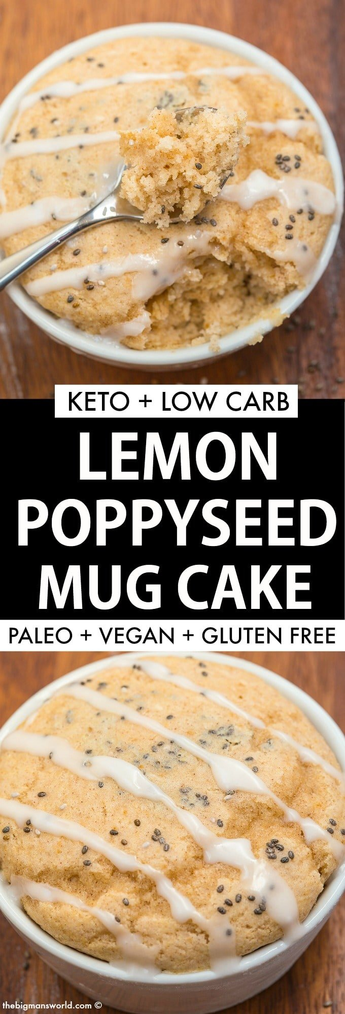 Keto Lemon Poppy Seed Mug Cake Muffin