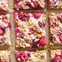 healthy raspberry crumble bars