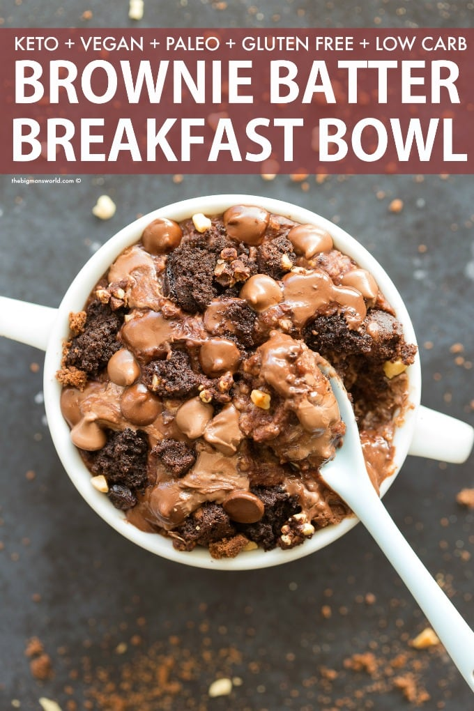 Healthy Brownie Batter Protein Oatmeal Recipe