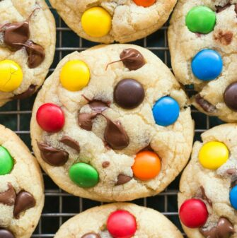 Easy soft and chewy keto healthy m and m cookies recipe