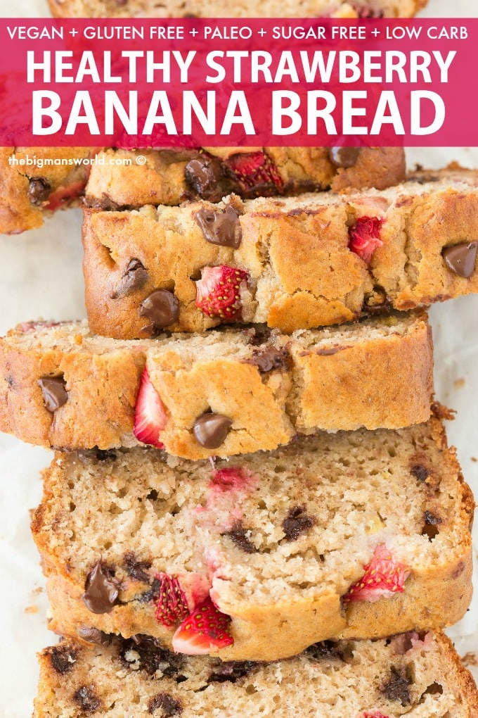 Healthy Banana Raspberry Bread Recipe without eggs and without sugar!