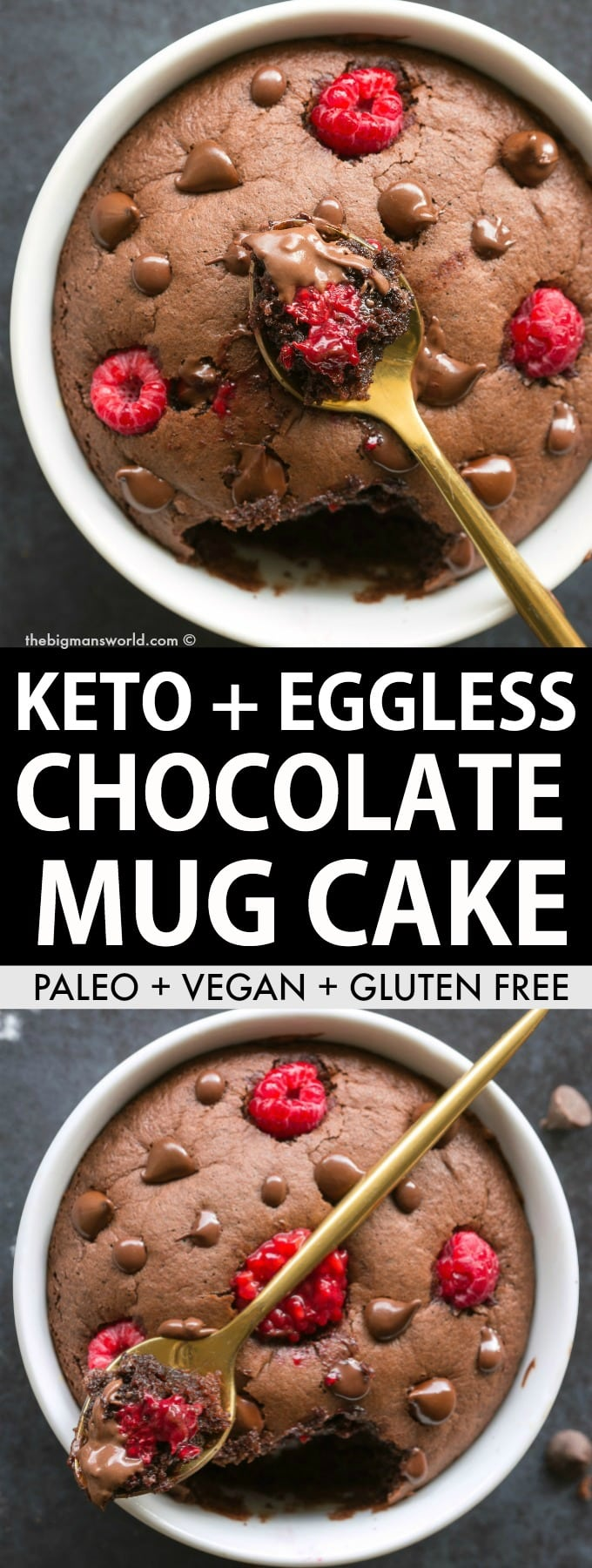 Keto Almond Flour Chocolate Mug Cake Paleo Vegan The Big Man S World