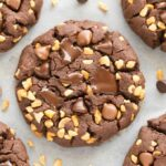Soft and chewy paleo vegan chocolate hazelnut cookies made with homemade nutella!