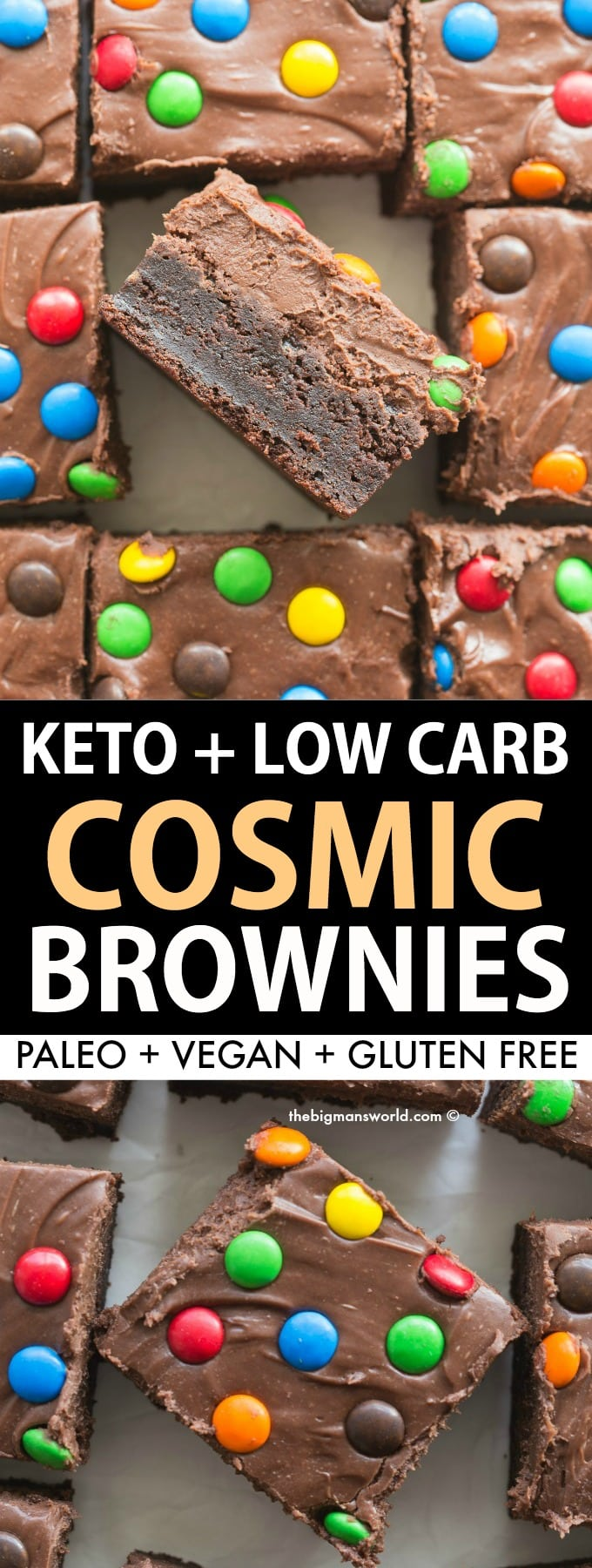 Easy copycat Little Debbie Cosmic Brownie recipe made healthy!