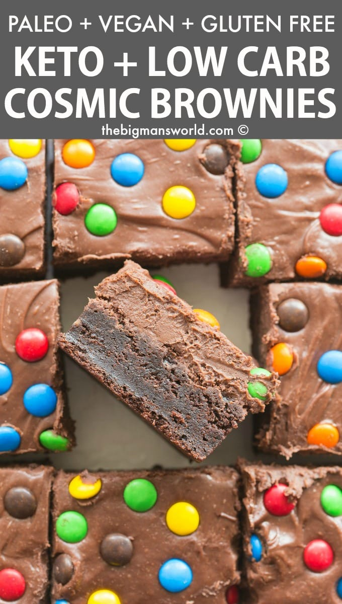 Paleo Vegan Cosmic Brownie Recipe made keto and sugar free.