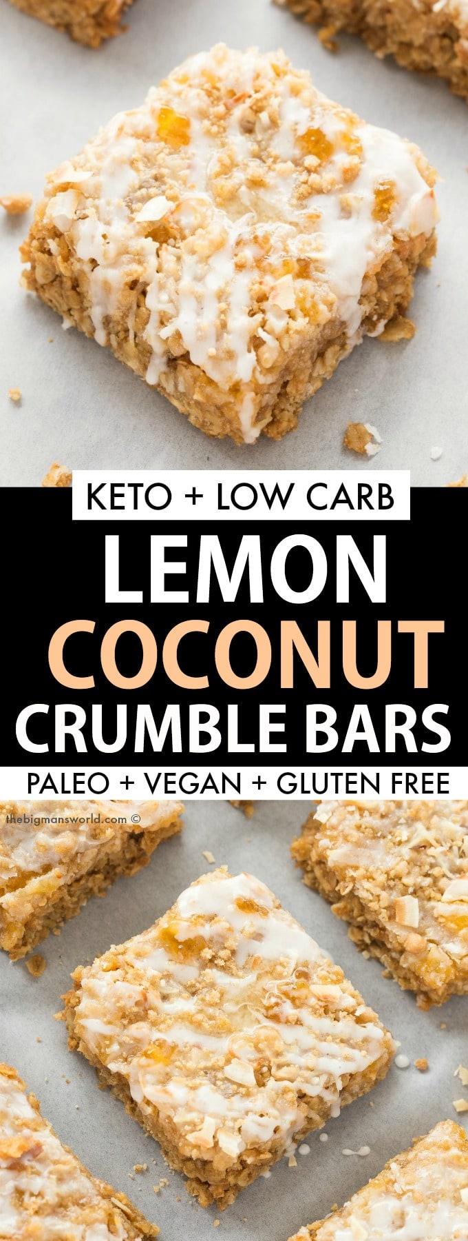 Keto Lemon Coconut Bars Recipe- Paleo and vegan friendly!