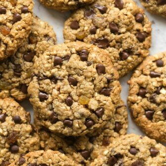 Paleo and Keto Noatmeal Oatmeal Raisin Cookies Recipe