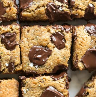 Easy zucchini chocolate chip bars recipe