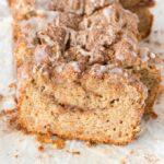 Moist and tender cinnamon swirl banana bread recipe