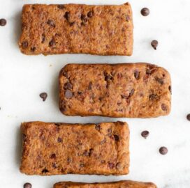 No Bake Gluten Free Vegan Paleo Cookie Dough Protein Bars Recipe