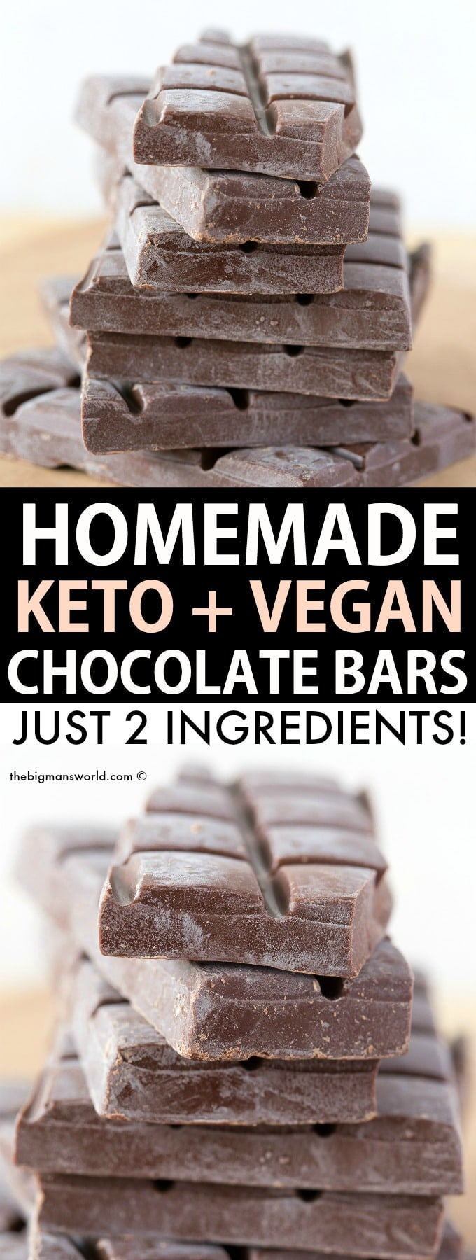 Homemade keto chocolate bars recipe
