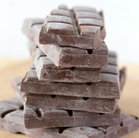 Homemade Easy Keto Chocolate Bar Recipe made with 2 ingredients!