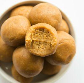 Easy Keto Low Carb No Bake Pumpkin Pie Energy Bites recipe