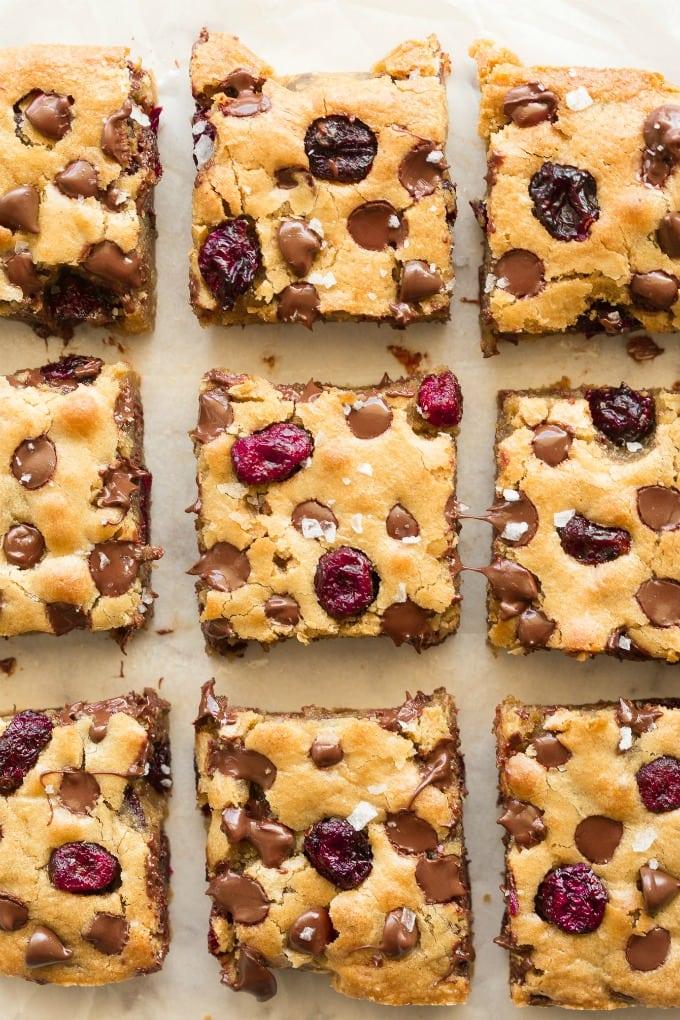 keto vegan cranberry blondies recipe