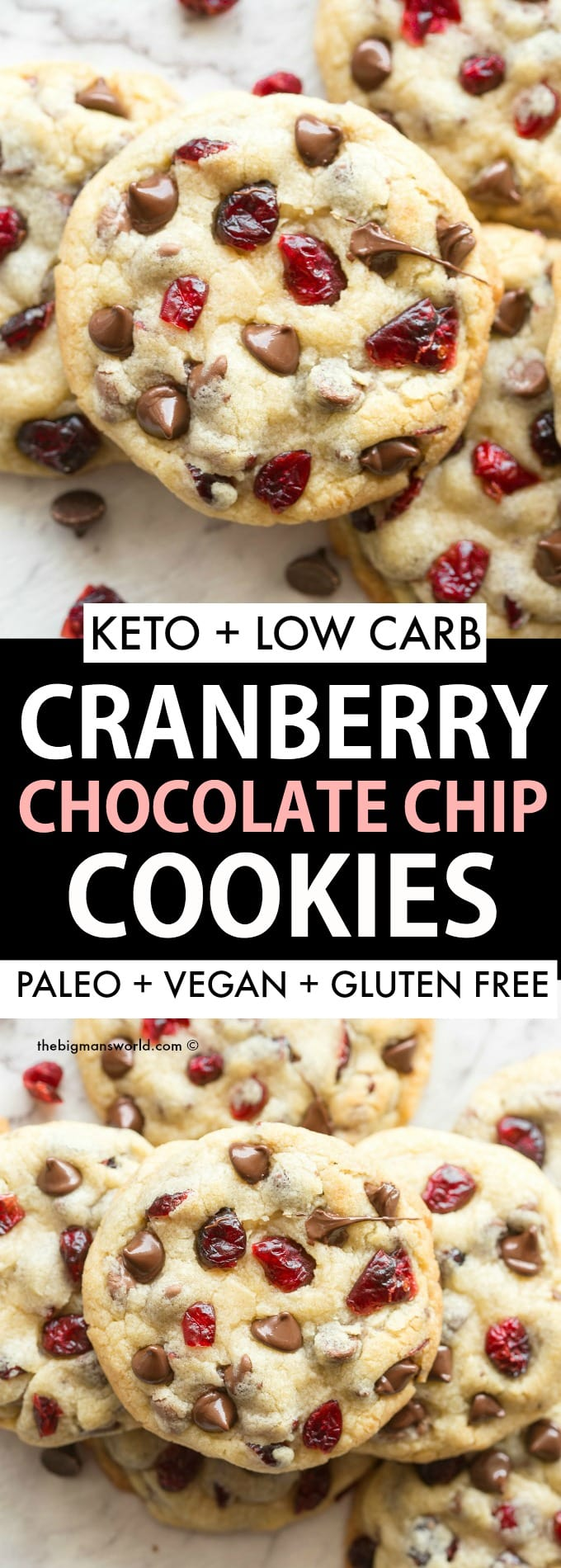 Keto Cranberry Chocolate Chip Cookies Recipe