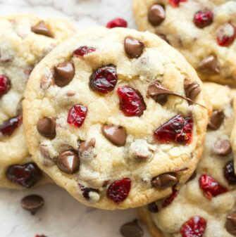 Cranberry Cookies with chocolate chips recipe