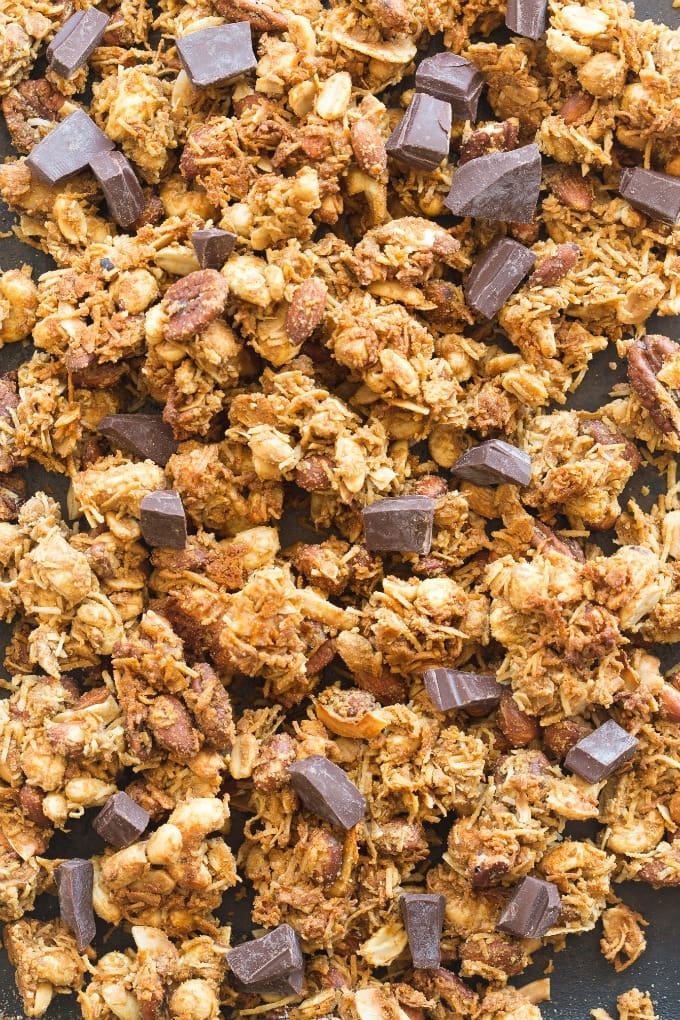 easy homemade keto and vegan granola clusters