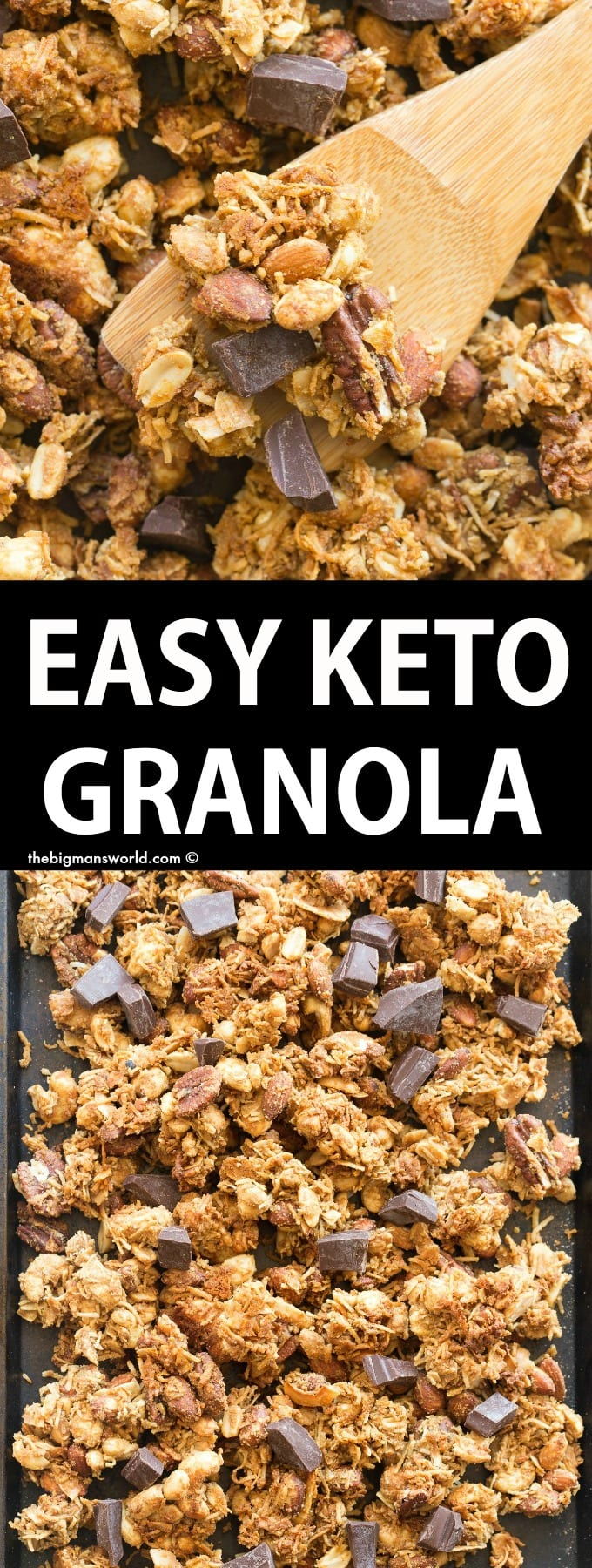 How to make keto granola with clusters from scratch