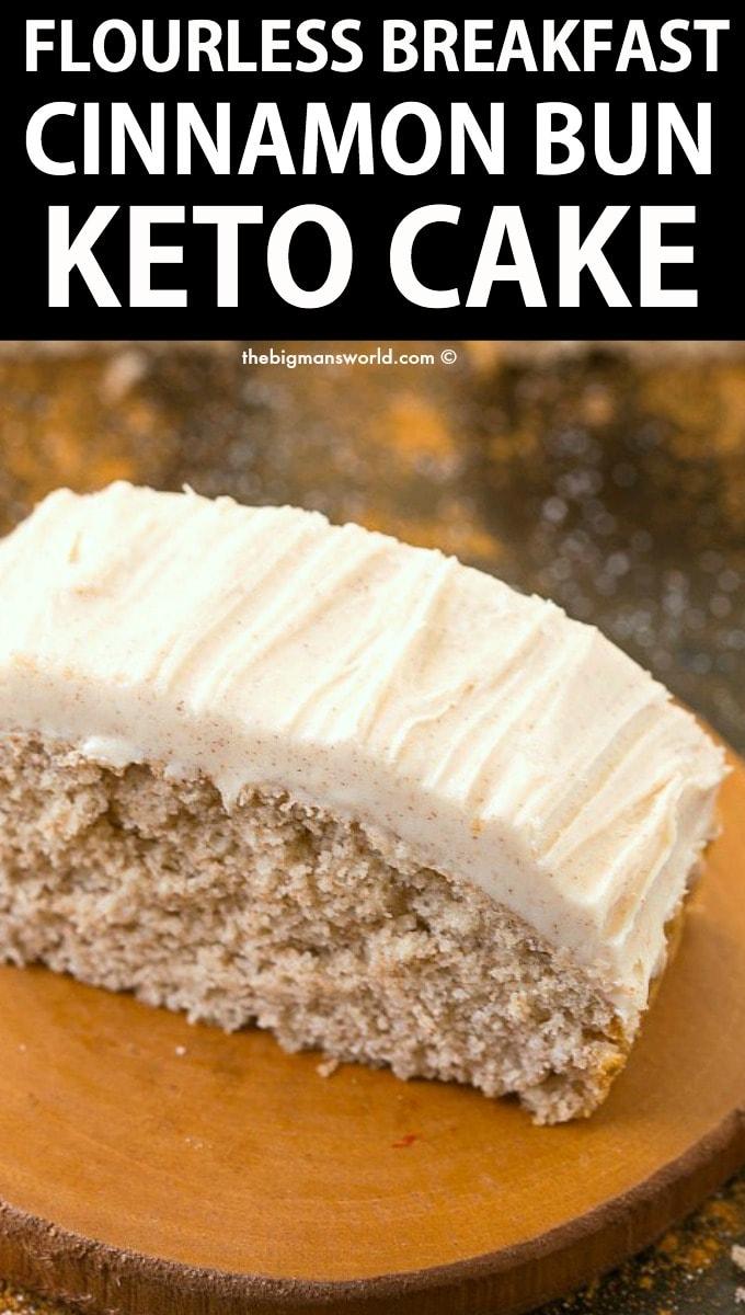 Keto Cinnamon Bun Cake Recipe