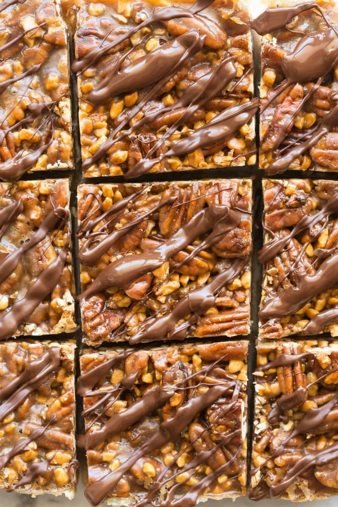 chocolate pecan pie bars no corn syrup