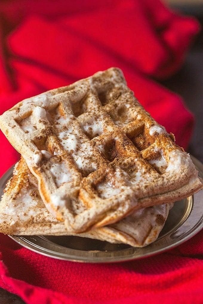 Cinnamon Roll Waffles Recipe