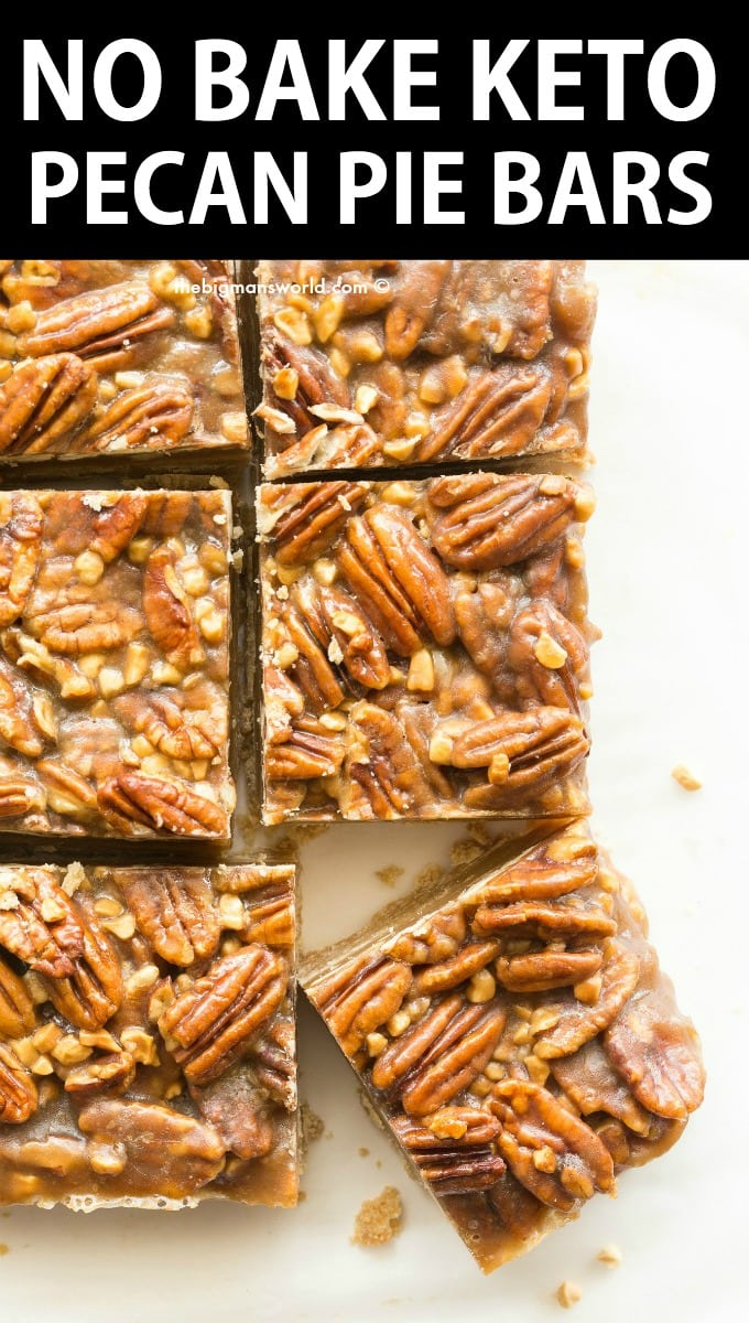 Keto Pecan Pie Bars Recipe