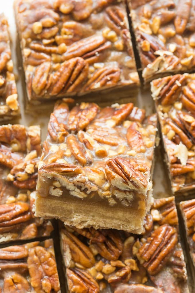 Easy keto pecan pie bars