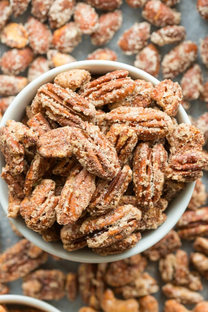 Keto Candied Pecans that are sugar free