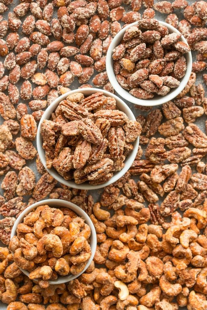 Keto Sugar Free Candied Nuts Recipe