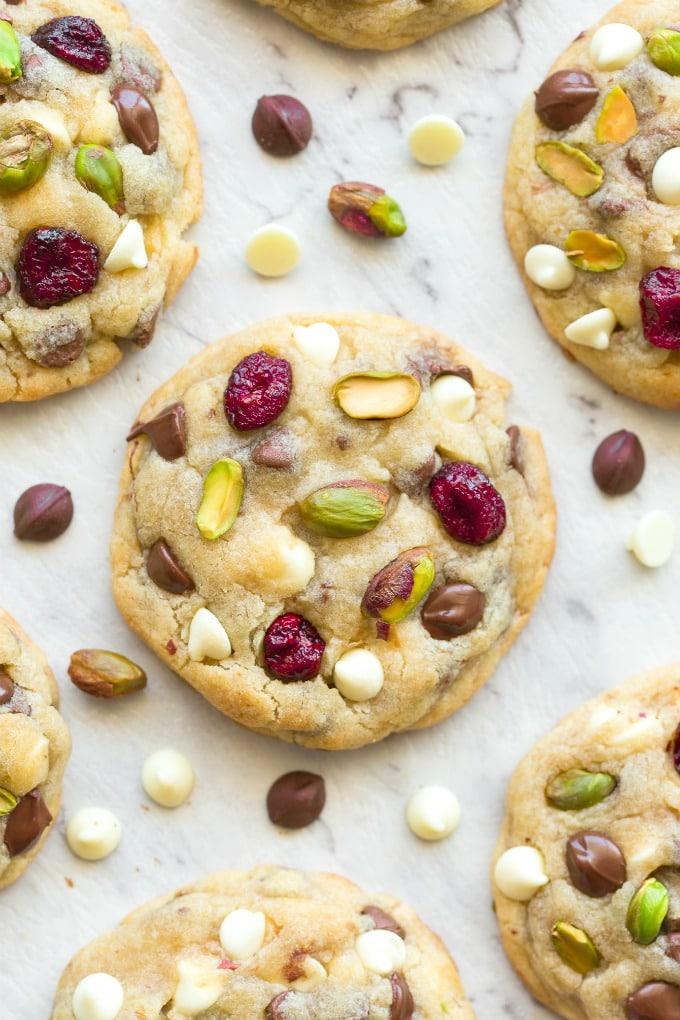 Keto Vegan Cranberry Pistachio White Chocolate cookie recipe