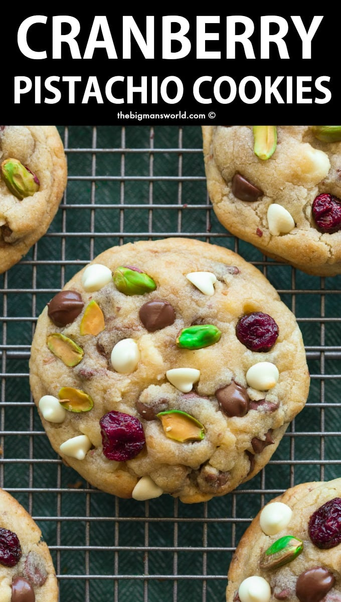 Cranberry Pistachio White Chocolate Keto Cookies