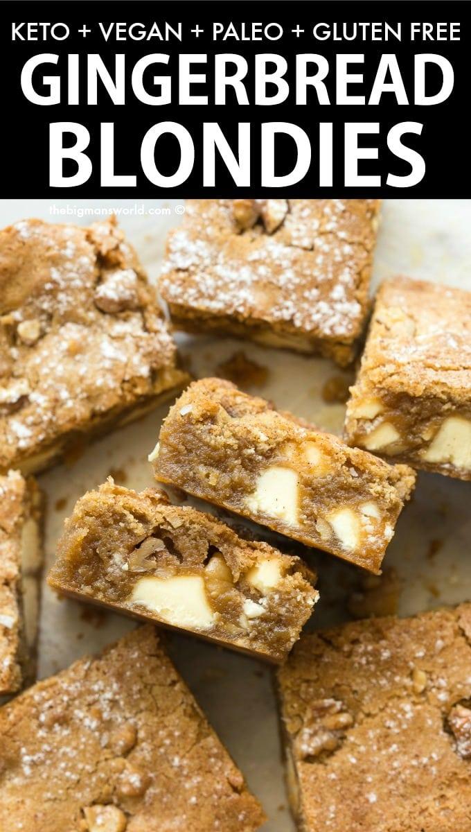 Gingerbread White Chocolate Blondies Recipe