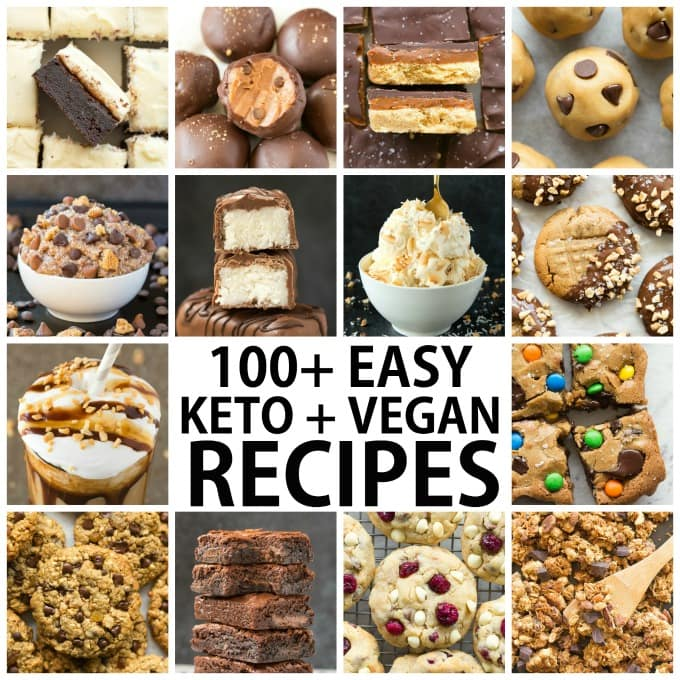 Keto Vegan Recipes for breakfast, lunch, dinner, snacks and dessert