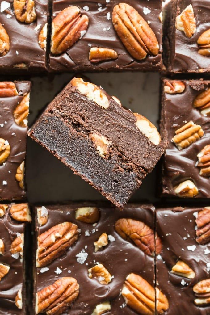 Paleo Vegan Pecan Brownies Recipe